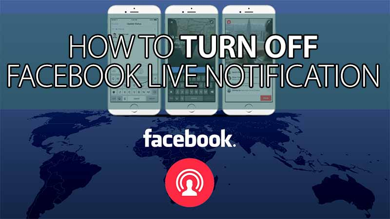 Turn off facebook live notification