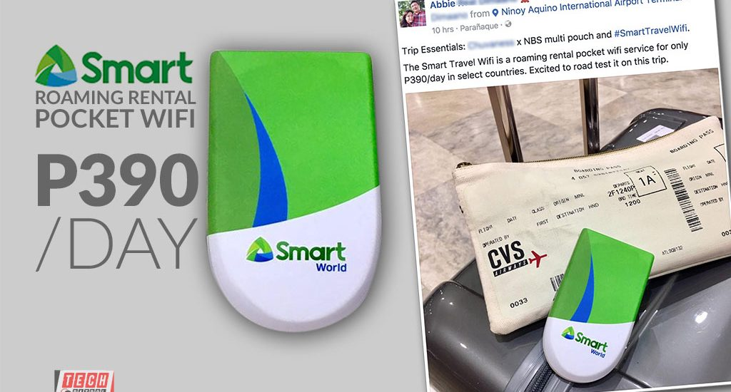 Smart to offer Smart Travel WiFi, a Roaming Pocket WiFi rental for P390 per day