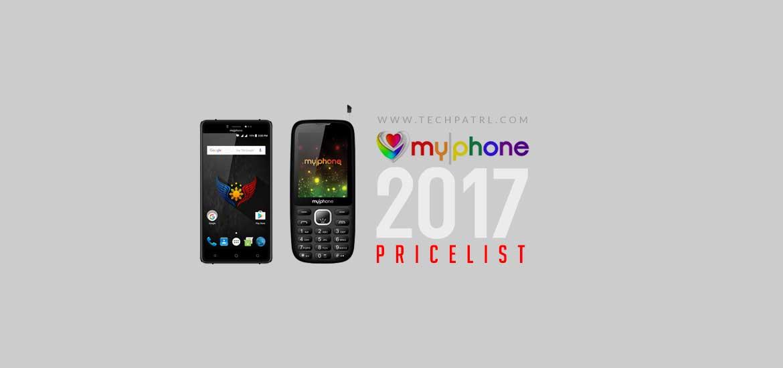 MyPhone Pricelist 2017