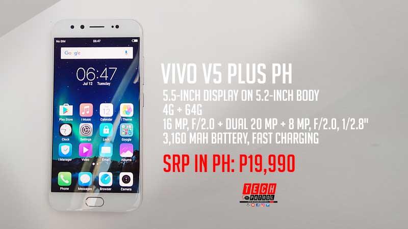 vivo V5 Plus arrives in PH; Priced at P19,990