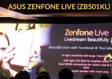ASUS Zenfone Live: Live Streaming Beautification for only P6,995 (USD141)