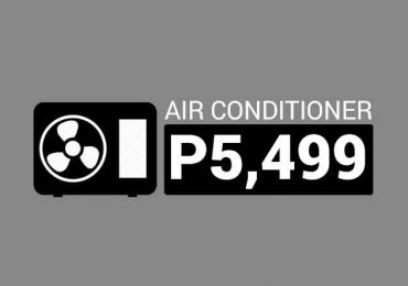 This 0.6 HP Window Type Air Conditioner is only P5,499 or P347.37/month