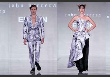John Herrera X Epson: Eagle-inspired haute couture collection at London Fashion Week