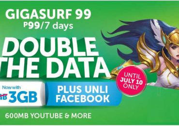 NEW: Smart's GIGASurf99 now with 3GB plus Unli Facebook & Messenger