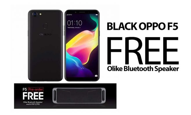 OPPO F5 (Black & Gold) 4GB+32GB is now available in Lazada