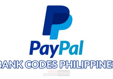 List of Paypal Bank Codes in the Philippines