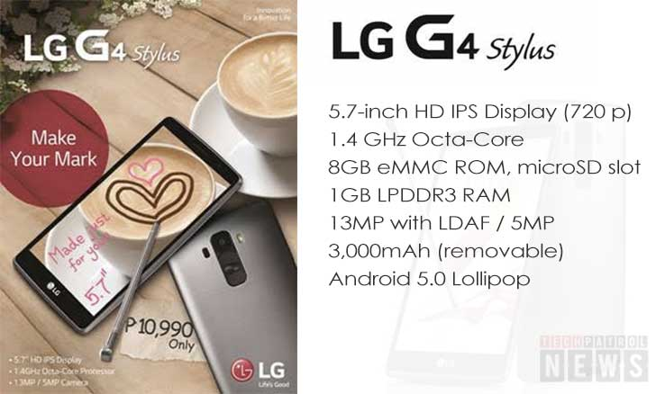 LG G4 Stylus now available in PH