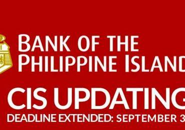 BPI: CIS Updating is extended until September 30
