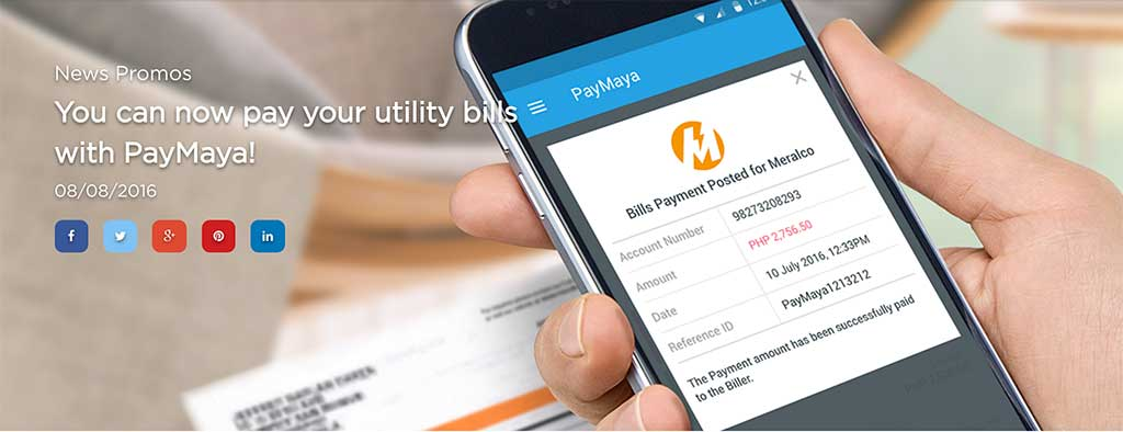 PAYMAYA Bills Payment Now Enabled » Tech Patrol