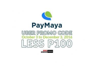 PayMaya X Uber = Less P100 on your 'First Four'
