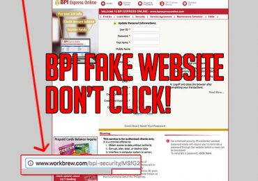 BEWARE: BPI Express Online Fake Website Verification