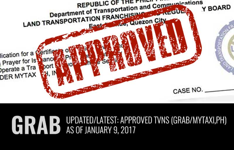 Photo of Latest: List of Approved TNVS (Grab)