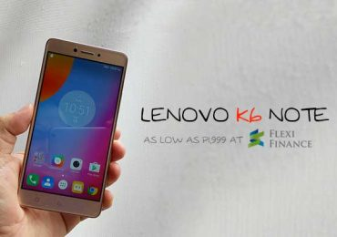 Lenovo PH unveils Lenovo K6 Note; 5.5-inch FHD, 4,000mAH battery