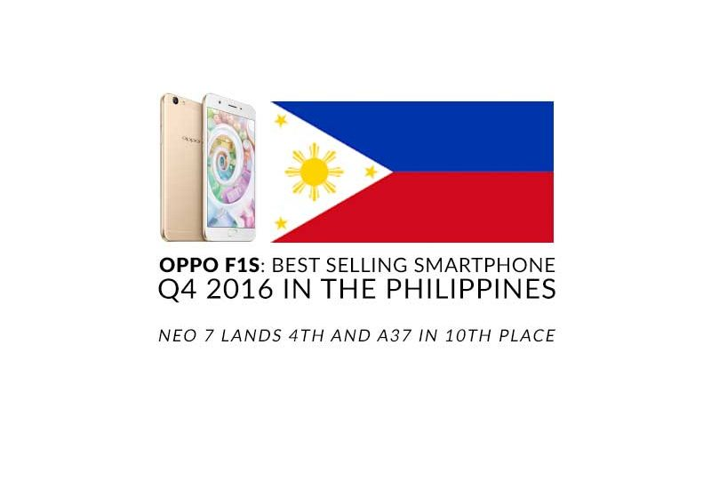 OPPO F1s is the best-selling smartphone in Q4 2016