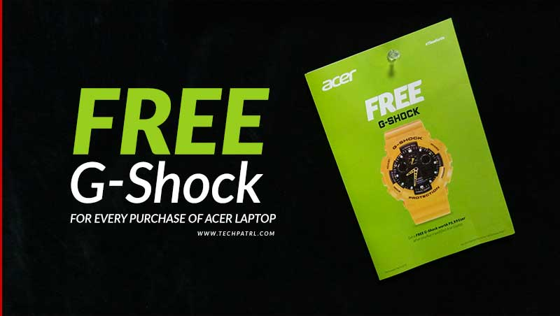 Photo of Time For Us: Get a FREE G-Shock when you buy Acer laptop