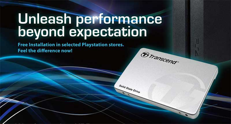 Transcend SSD offers Free Installation Support for Playstation 4 users
