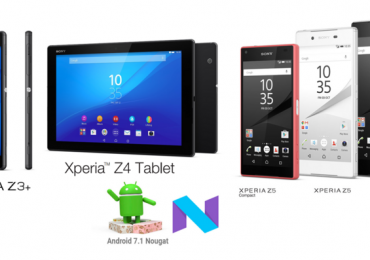 "Sony starts to roll-out Android v7.1.1 ""Nougat"" on Xperia Z3+, Z4+ and Z5 family"