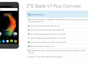 ZTE outs Blade V7 Plus, outdated specs with slightly larger battery in tow