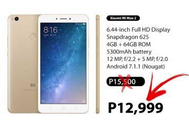 Gold Xiaomi Mi Max 2 Sale: Now only P12,990