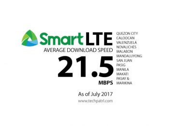 Smart reports 21.5Mbps LTE Speed in North NCR; 14.4Mbps in South