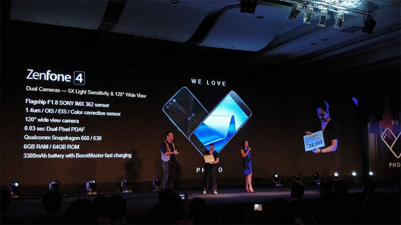 FIVE Zenfone 4 smarpthones launched in the Philippines