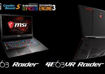 MSI announces MSI GE63VR/73VR Raider Gaming Laptop