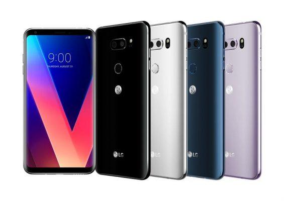 lg v30 four different colors
