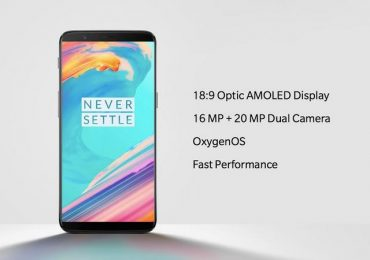 OnePlus 5T debuts with Snapdragon 835 SoC, dual cameras and 18:9 display screen