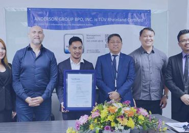 Anderson Group BPO Inc. receives ISO 27001:2013 Information Security Management System certification