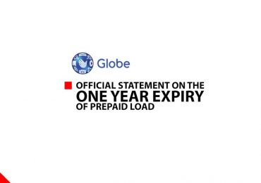 Globe's Official Statement on the One Year Prepaid Load Expiration