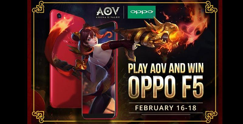 Play Arena of Valor to have a chance to win OPPO F5 Red!