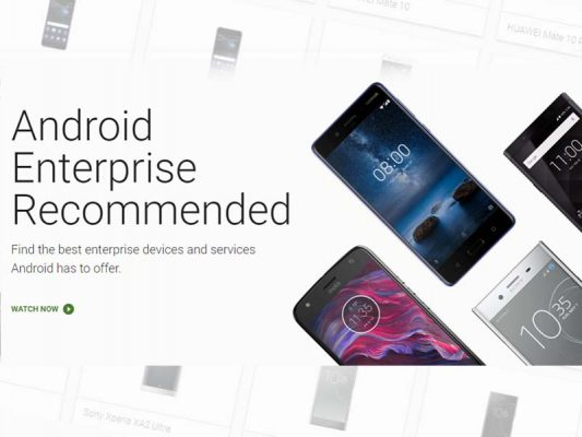 Photo of Android Enterprise Recommended launched: Showcased best for work phones