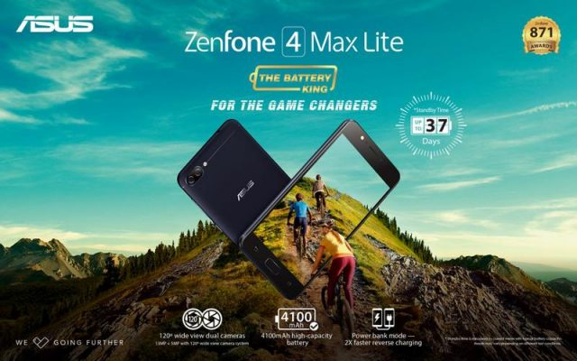 ASUS launches the ZenFone 4 Max Lite with 4,100 mAh battery capacity
