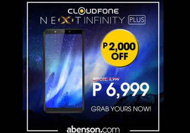 Cloudfone throws P2,000 discount on Next Infinity Plus if you buy it from Abenson