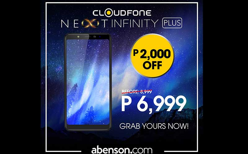 Photo of Cloudfone throws P2,000 discount on Next Infinity Plus if you buy it from Abenson