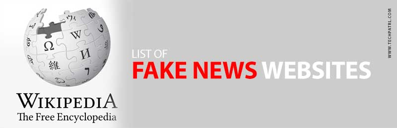Wikipedia list of fake news websites