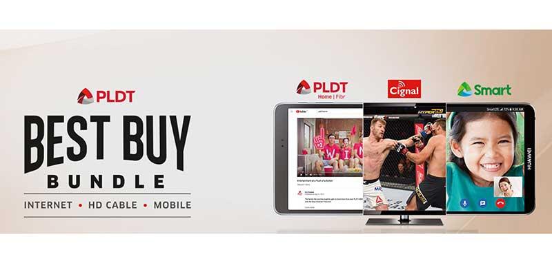 PLDT Bundle: Internet, HD Cable, Mobile