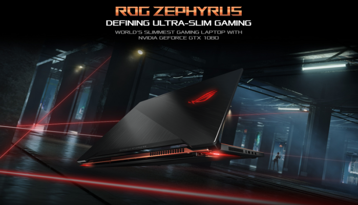 ASUS debuts ROG Zephyrus with 6-core Intel i7-8850H processor