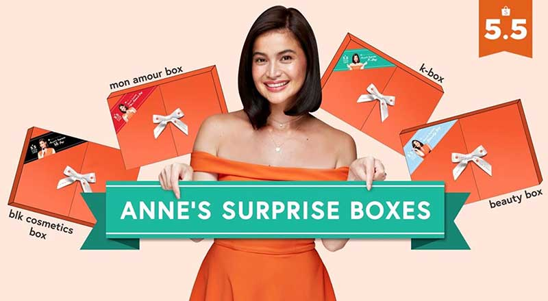 "Anne Curtis Celebrates 5.5 Shopee Super Sale With  Exclusive ""Surprise Boxes"" Worth Up to P1,500"