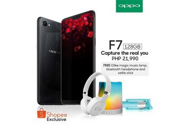 The OPPO F7 128GB Diamond Black is exclusively offered on Shopee