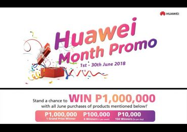 You can win 1M with 2018 HUAWEI Month Promo