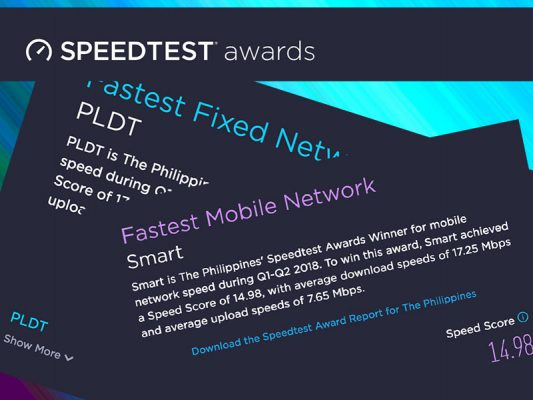 Photo of PLDT, Smart cited as PH's fastest in Ookla Speedtest Awards
