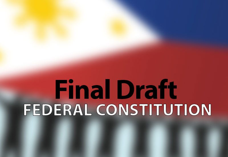 Final draft of the proposed Federal Constitution
