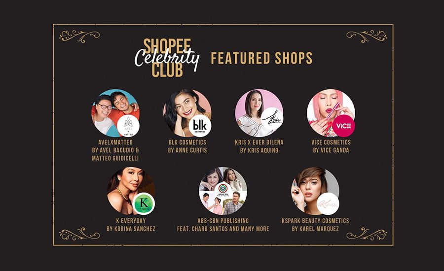 """8068966feb688 Top Local Celebrity collaborate with Shopee for the """"Shopee Celebrity Club"""""""
