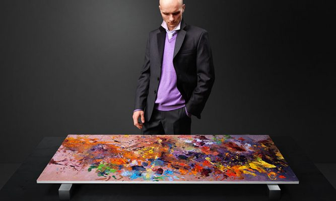 Photo of Czech abstract painter and designer, Radim Kacer, teams up with Argomall