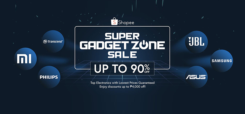 Shopee partners with 6 Tech Giants for Super Gadget Zone Sale