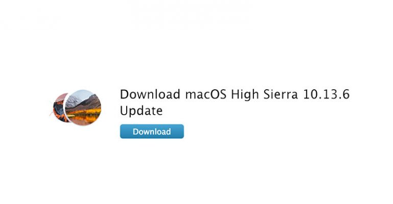 Download and install macOS High Sierra 10.13.6