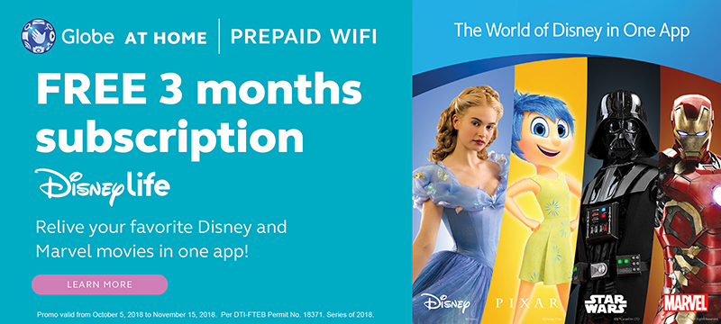 Globe At Home Prepaid WiFi Customers Get Free Disney Movies And More