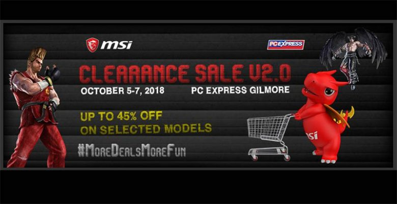 Christmas comes early at MSI Clearance Sale in PC Express Gilmore