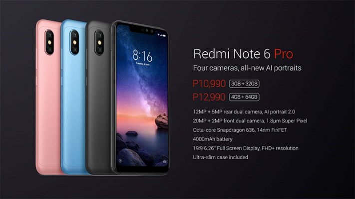 Redmi Note 6 Pro is now official in the Philippines